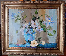 Obrazy - Kvety vo váze 63x53cm o09 - 8951512_