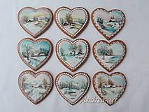 Dekorácie - maľované vianočné medovníčky - 8951830_