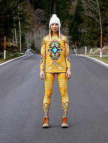 Nohavice - Navajo tribal winter - termo set - 8949245_