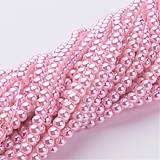 - Voskované perličky 4mm, 100 ks - sv. ružové - 8949483_