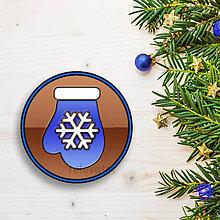Dekorácie - Vianočná grafická čokoláda (rukavica) - 8948916_