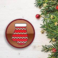 Dekorácie - Vianočná grafická čokoláda (rukavica 2) - 8950108_