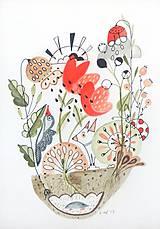 - Príroda abstrakt ilustrácia / originál maľba - 8953034_
