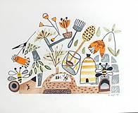 - Medový ilustrácia/ originál maľba - 8953075_