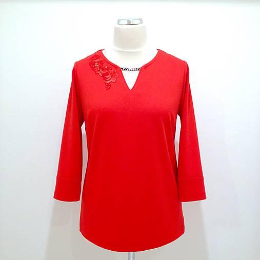 839a15b13c9a Červená tunika s aplikáciou   LuxuryCouture - SAShE.sk - Handmade Tuniky