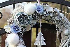 Dekorácie - Zimný venček - 8954003_