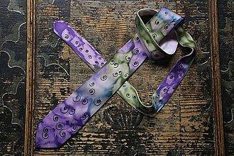Doplnky - Fialovozelená kravata - 8954271_