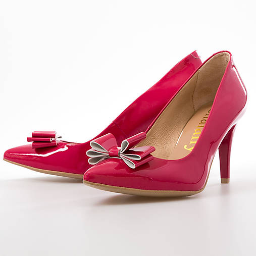 fcb5ab41d0 Ružové lodičky s mašličkou   chalany - SAShE.sk - Handmade Obuv