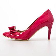 Obuv - Ružové lodičky s mašličkou - 8953474_