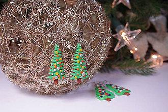 Náušnice - vianočné náušnice - 8954353_