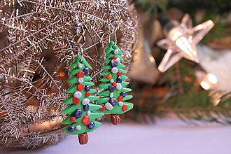 Náušnice - vianočné náušnice - 8954385_