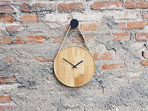 Marc Drop Clock - Dubové hodiny