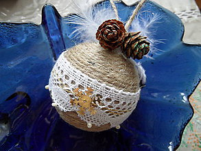 Dekorácie - vianočné gule (Biela) - 8953536_