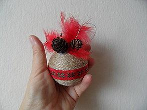 Dekorácie - vianočné gule (Červená) - 8953549_