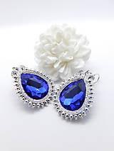 Náušnice - Blue glamour  - 8952475_