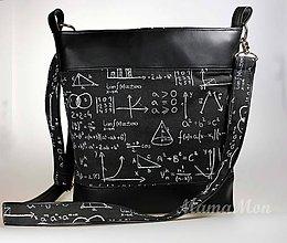 Kabelky - dámska kabelka - crossbody - matematiská tabuľa - 8954623_