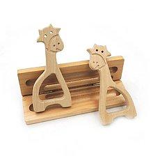 Polotovary - Drevená žirafka 12 x 6 cm - 8954219_