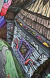 """Obrazy - Maľovaný obraz """"Folky"""" 60cm x 40cm - 8953195_"""