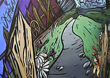 """Obrazy - Maľovaný obraz """"Folky"""" 60cm x 40cm - 8953212_"""