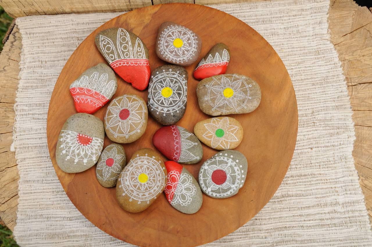 Biela Kresba Na Kameni Maľovane Vkm Sashe Sk Handmade Dekoracie