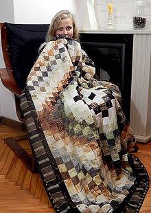 Úžitkový textil - Deka patchwork 132x152cm 12 - 8954148_