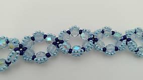 Náramky - Modrý náramok - 8954087_