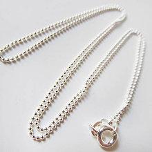 Komponenty - Retiazka ku šperku (Guličky / jemná) - 8954803_