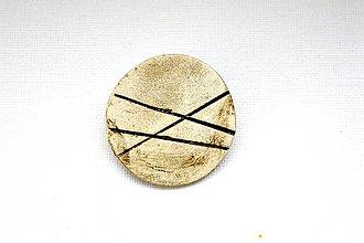 Odznaky/Brošne - Keramická brošňa Simple Life - 8952799_