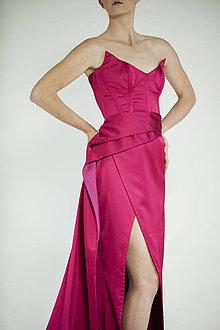 Šaty - Malinovo červené šaty - 8954115_
