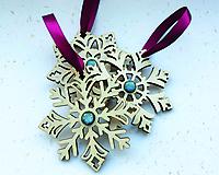 Dekorácie - Vianočné ozdoby: snehové vločky (3 ks) - 8952666_