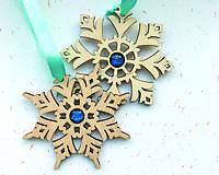 Dekorácie - Vianočné ozdoby: 1 pár snehových vločiek -  - ihneď k odberu - 8952750_