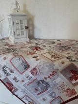 Úžitkový textil - Winter in bordo and white - 8955401_
