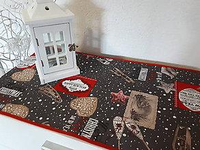 Úžitkový textil - Merry Christmas Red/Gray - 8955432_