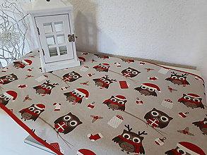 Úžitkový textil - Christmas Owls... - 8955531_