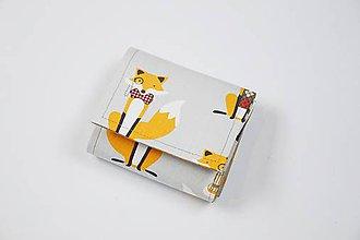 Peňaženky - Peňaženka malá s líštičkami - 8956798_
