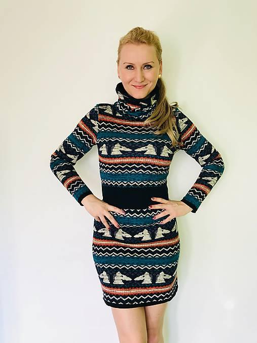 2a869ce74 Modré hrubé šaty / Cyclotella - SAShE.sk - Handmade Šaty