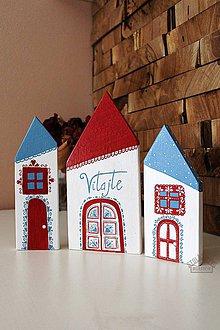 Dekorácie - Maľované domčeky - farebné - 8956125_