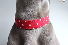 Pre zvieratká - Obojok Sven - červený so stredne veľkými bodkami - 8955334_