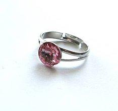 Prstene - Swarovski rivoli Light Rose (8 mm) - prsteň - 8956683_