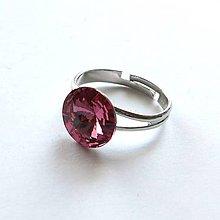Prstene - Swarovski rivoli Rose (12 mm) - prsteň - 8956687_