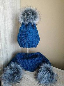 Detské čiapky - čiapočka šál s bombulkami - 8955420_