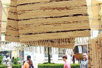 Úžitkový textil - Ručne tkaný koberec KOBERČEKY SLUŠŇÁK 50 cm šírka hnedý - 8955583_