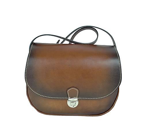 952c252c69 Rustikálna kožená kabelka ručne tieňovaná   Kozena-galanteria ...