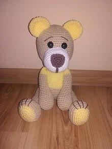Hračky - Háčkovaný macko žltý - 8955084_