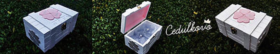 Prstene - Drevená krabička na prstene - 8957011_