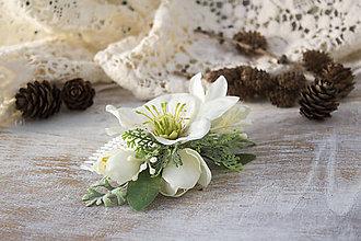 """Ozdoby do vlasov - Kvetinový hrebienok """"čemerica"""" - 8957071_"""