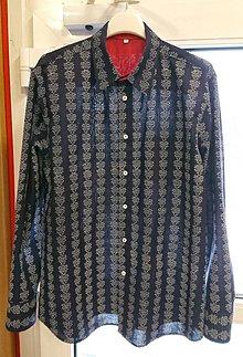 Oblečenie - Pánská košile s dlouhým rukávem MODROTLAČ vzor na přání - 8955592_
