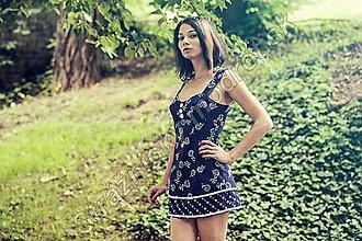 Šaty - Šaty na ramínka MODROTLAČ vzor na přání - 8955613_