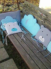 Textil - hniezdo 240 ľadový medvedík - 8955987_
