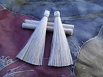 Hodvábne strapce - pár (Smotanové/Ivory)